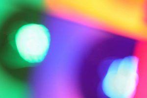 Blurry multi-coloured photo