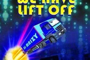 a lorry shooting up to the sky saying we have lift off