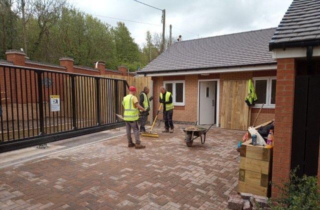 Men on a building site