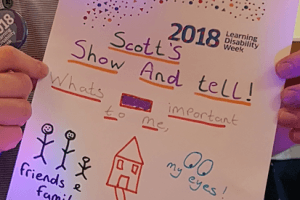People's drawings from a learning disability event